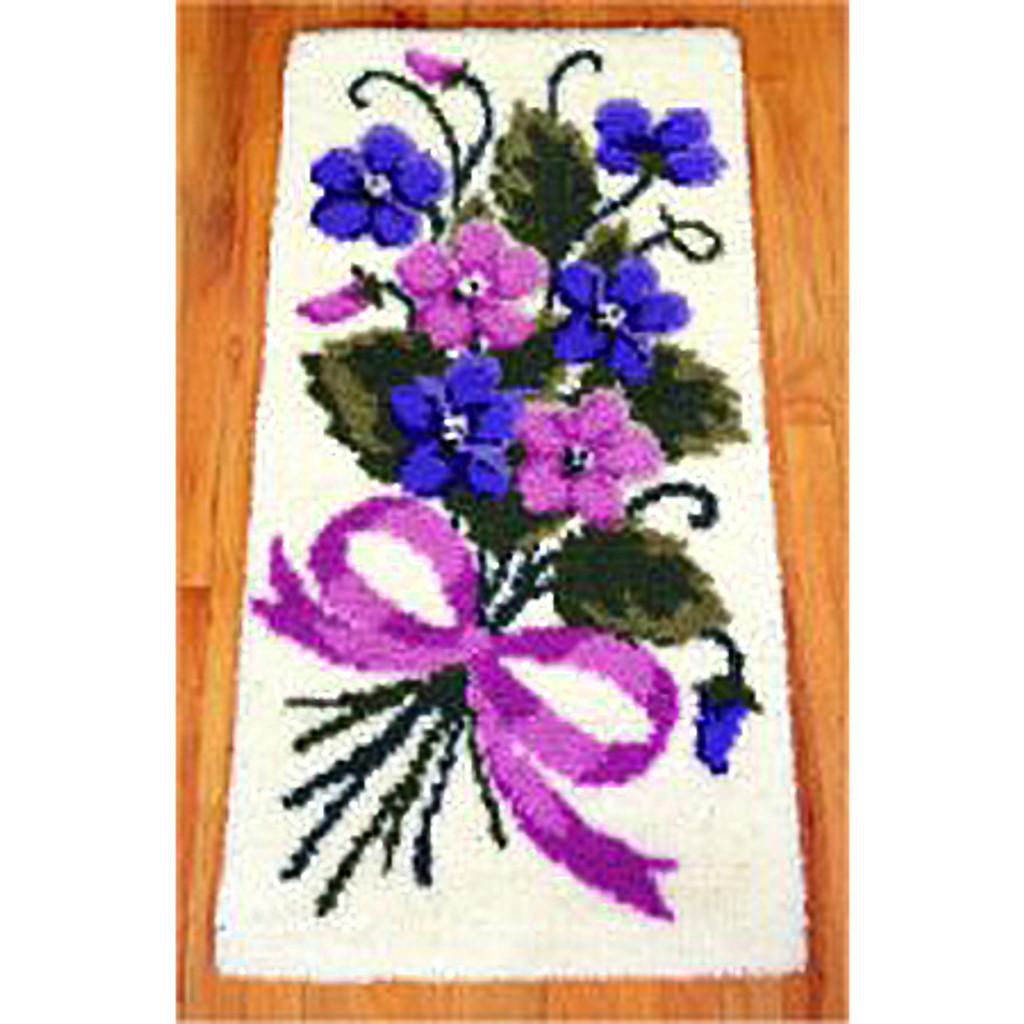 Bouquet of Violets Latch Hook Rug Kit