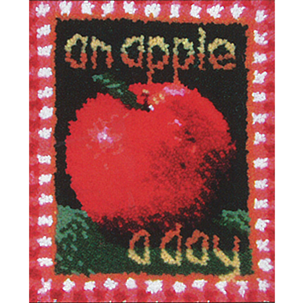 An Apple a Day Latch Hook Rug Kit