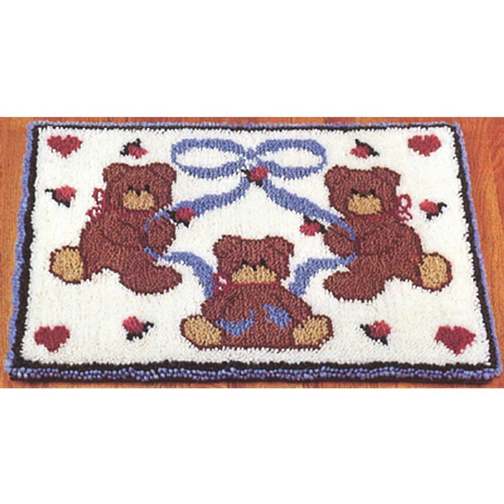 Bears and Hearts Latch Hook Rug Kits
