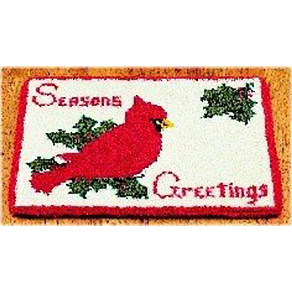 Seasons Greeting Latch Hook Rug Kit