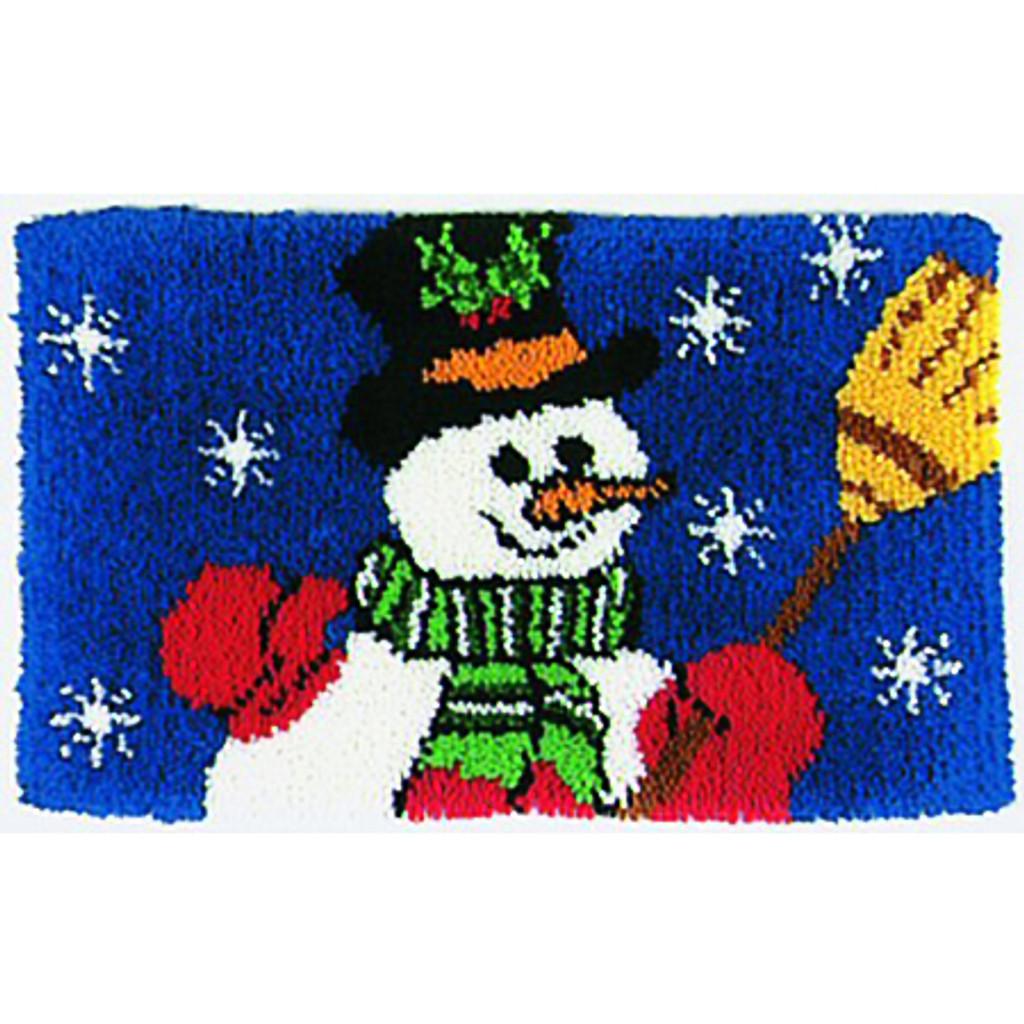 Snowman Latch Hook Rug Kit