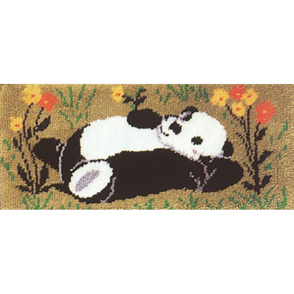 Sleepy Head Panda Latch Hook Rug Kit