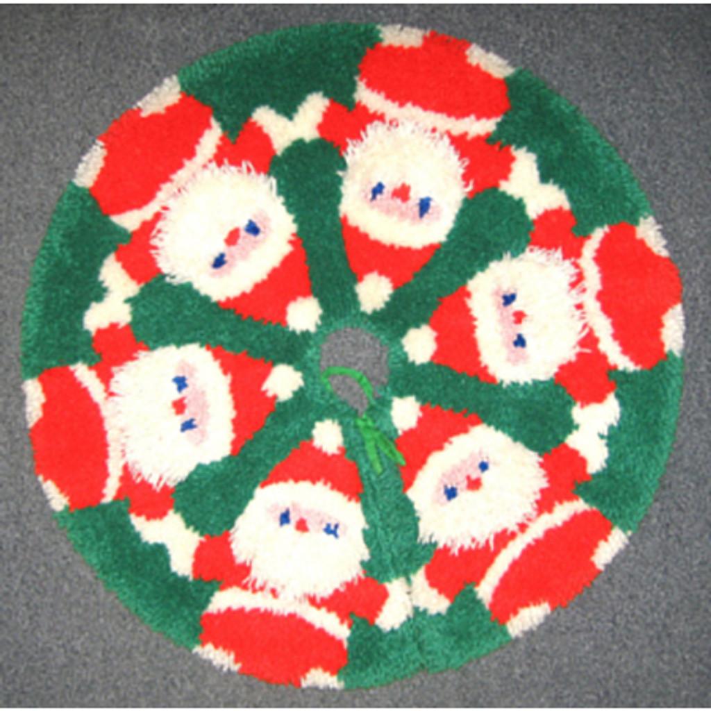 Santa Around the Tree Skirt Latch Hook Kit