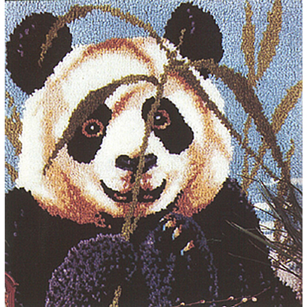 Peeking Panda Latch Hook Rug Kit