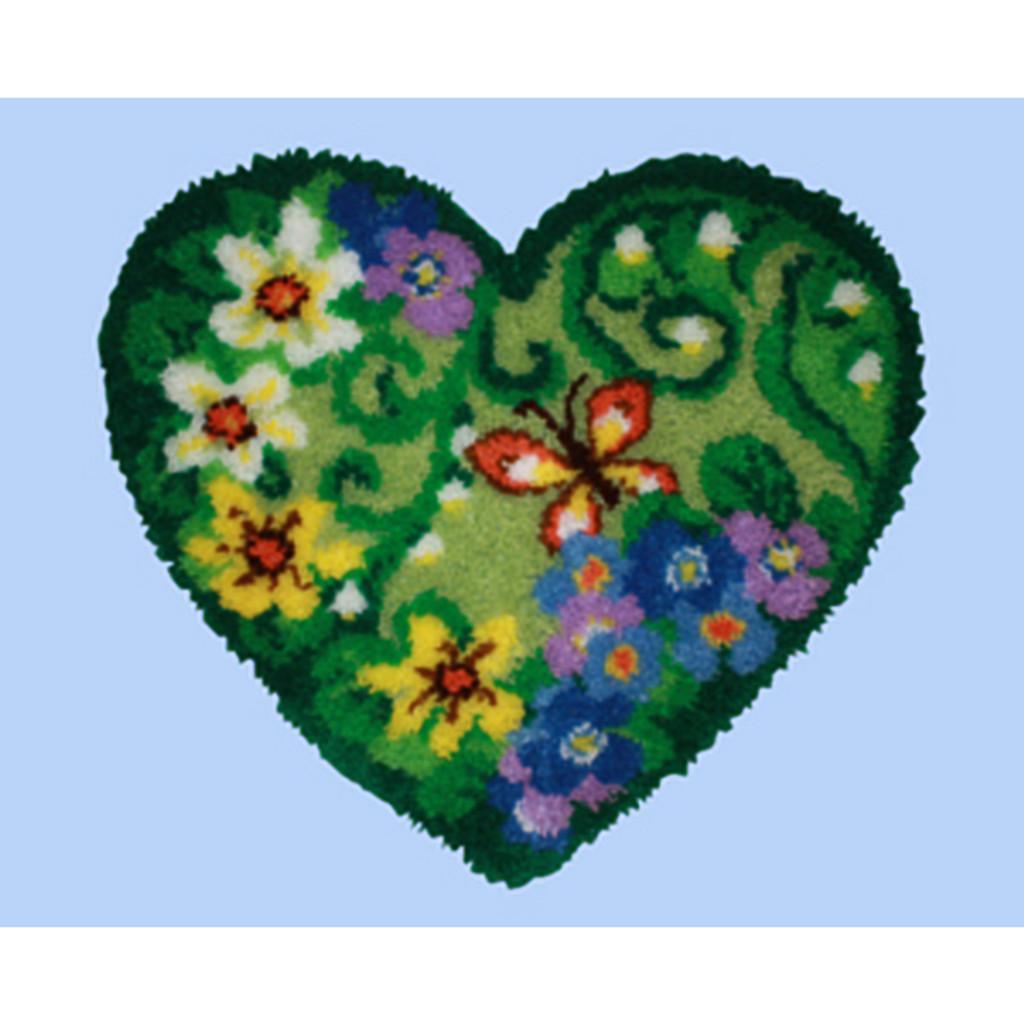 Spring Floral Heart Shape Latch Hook Kit