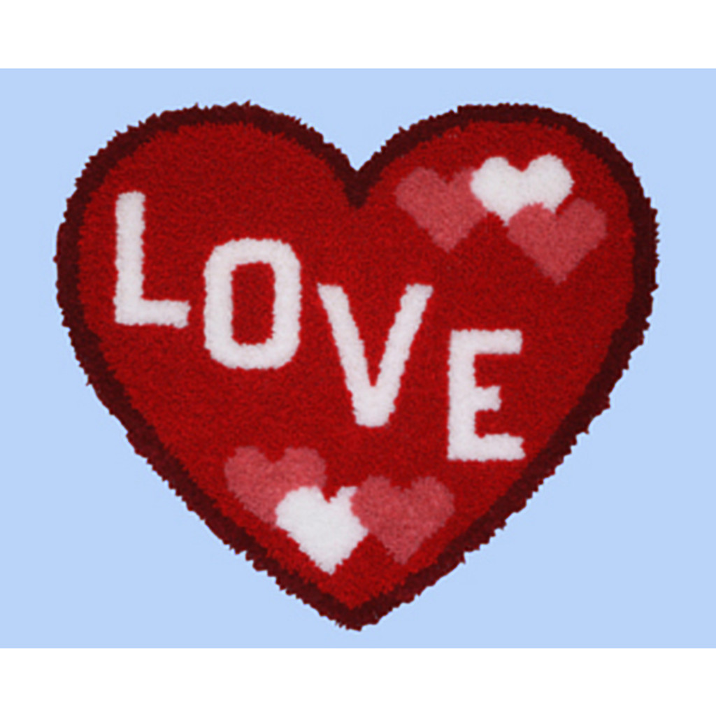 Love Heart Shape Latch Hook Kit