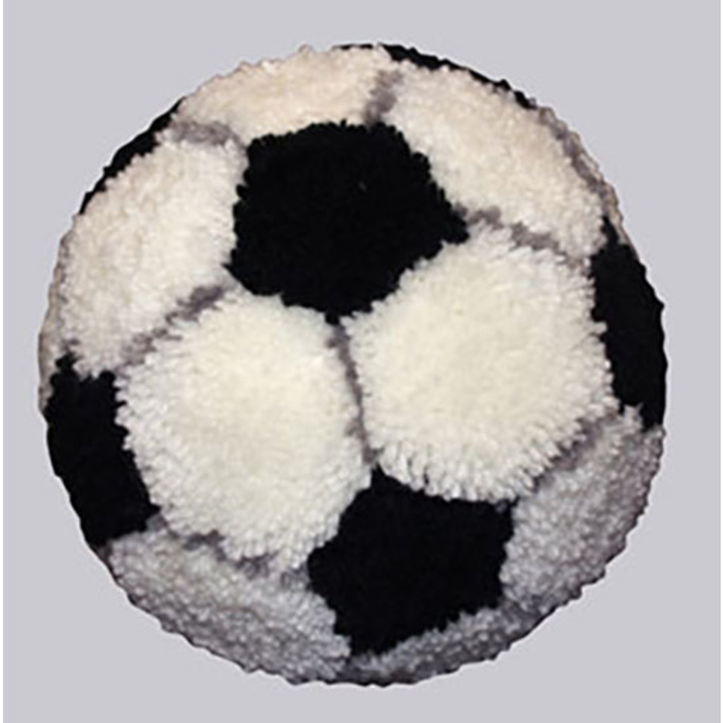 Soccer Ball Latch Hook Rug Kit