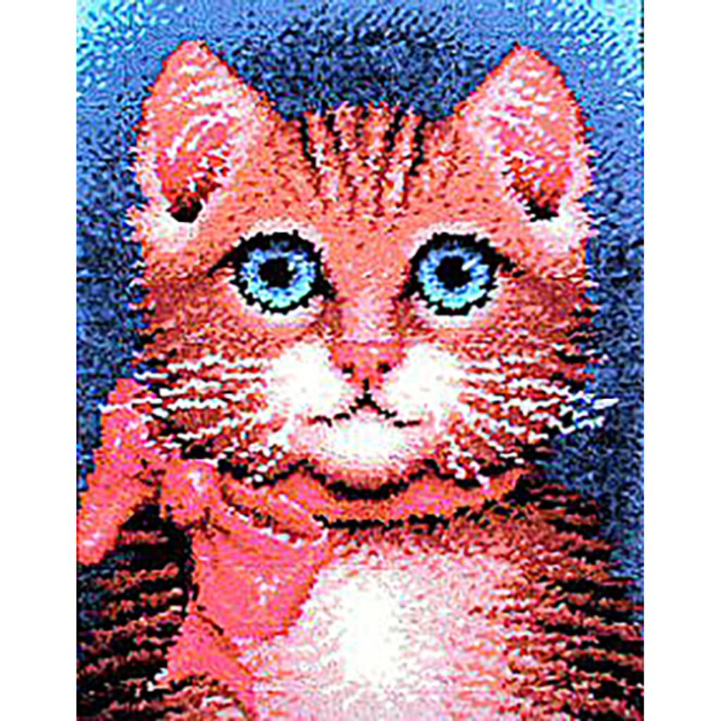 Pretty Kitty Latch Hook Rug Kit