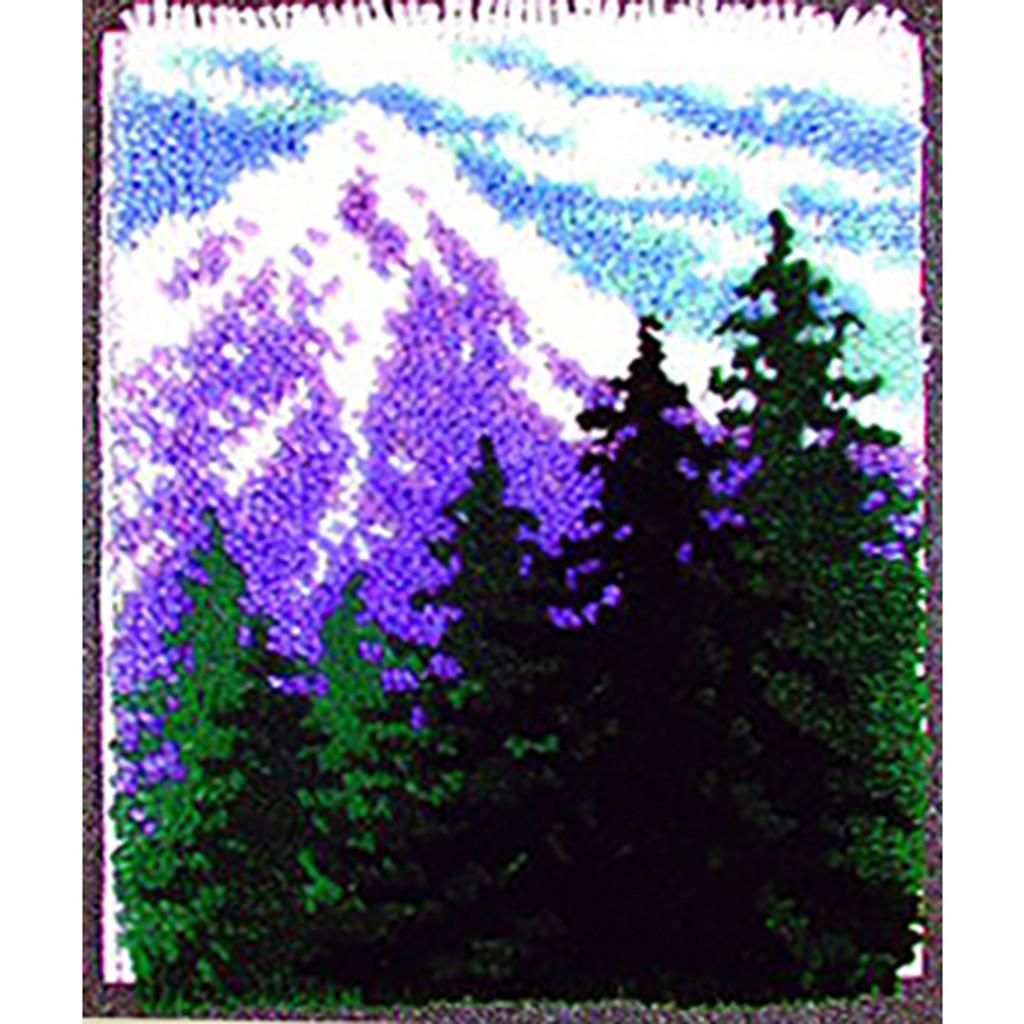 Mountain Pines Latch Hook Rug Kit