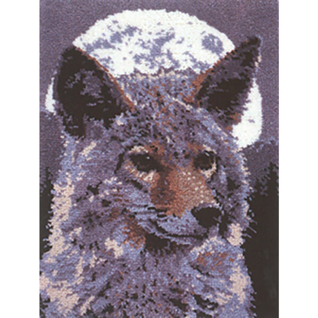 Timberwolf Latch Hook Rug Kit