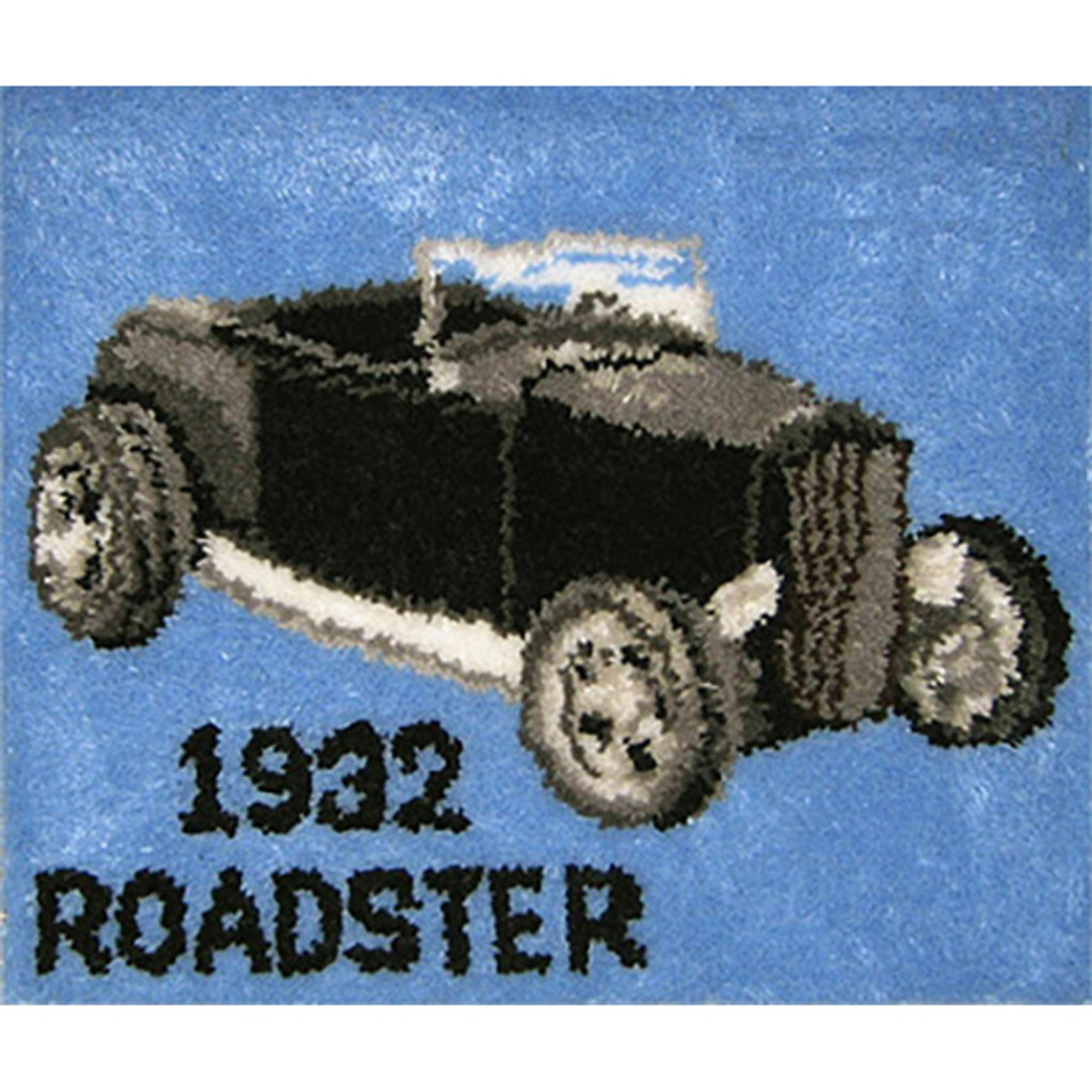 Roadster Latch Hook Rug Kit