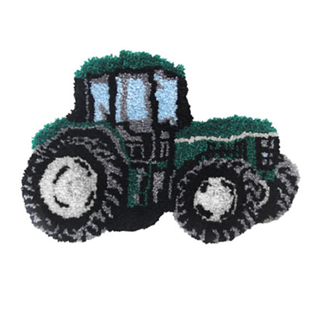Tractor Shaped Latch Hook Rug Kit