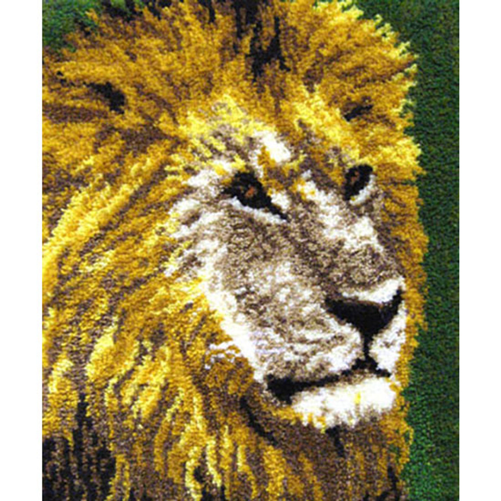 The King of Beasts Latch Hook Rug Kit