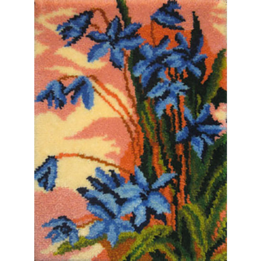Bluebells Latch Hook Rug Kit