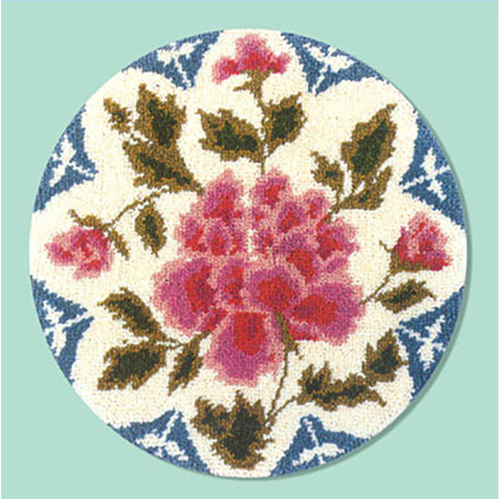 Peony Latch Hook Rug Kit