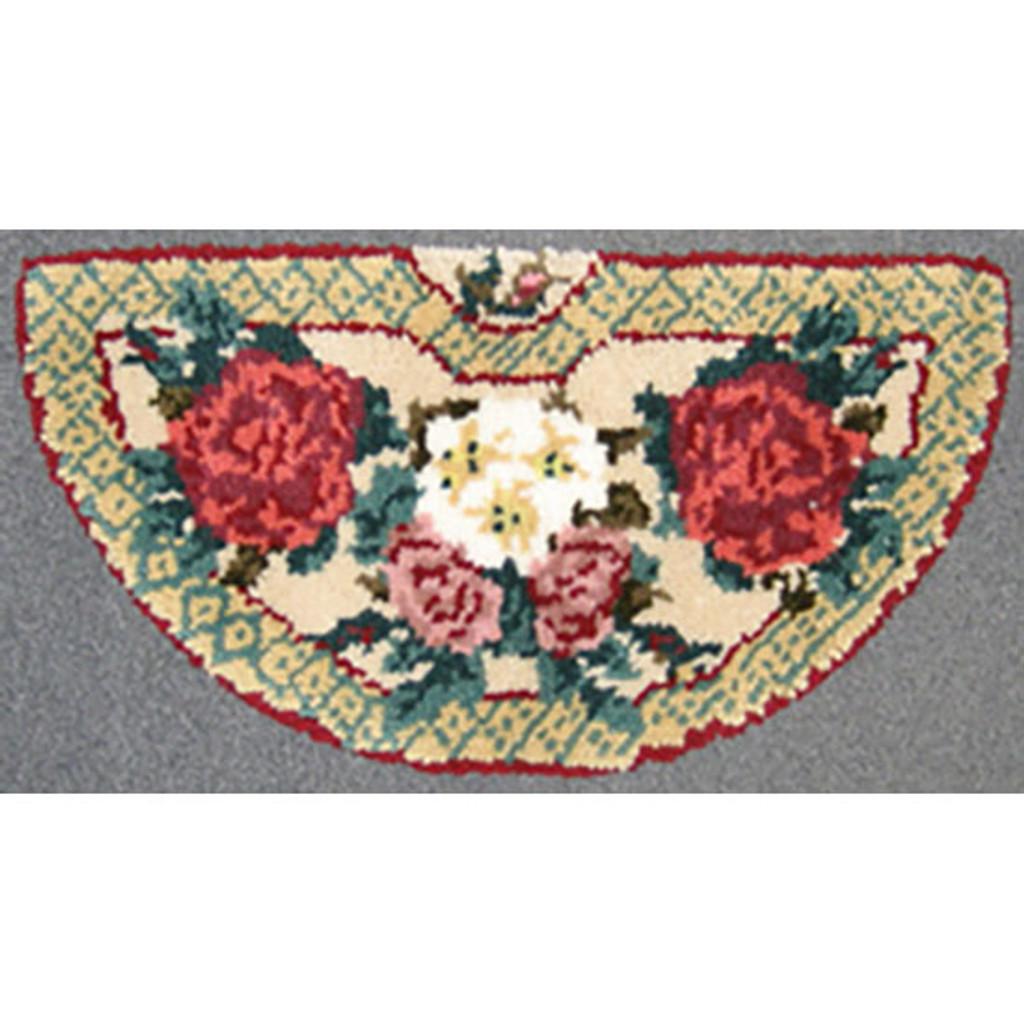 European Floral Latch Hook Rug Kit