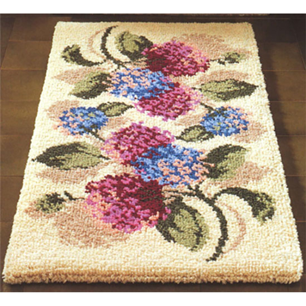 Hydrangea  Latch Hook Rug Kit