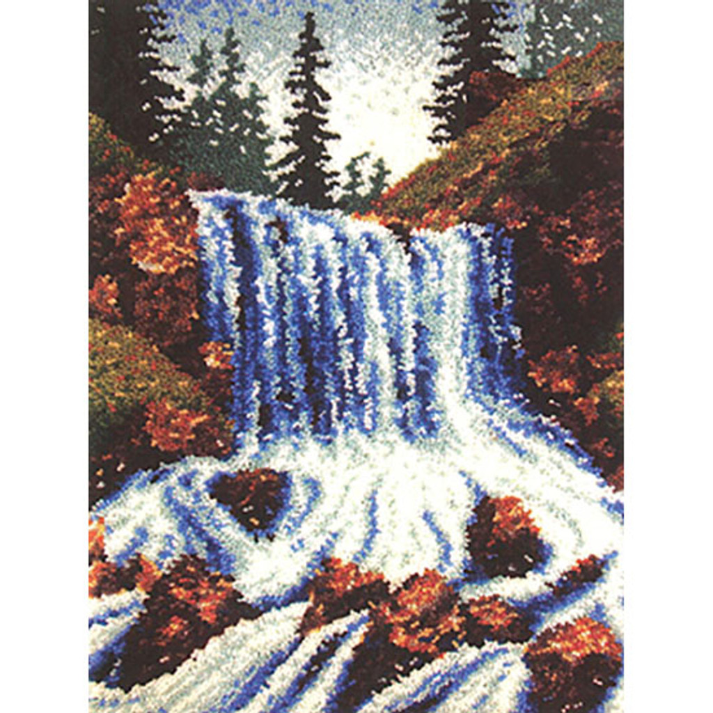 Mountain Falls  Latch Hook Rug Kit