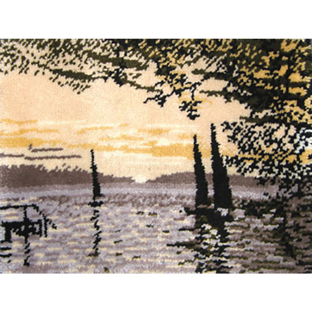 Sunrise on the Lake Latch Hook Rug Kit