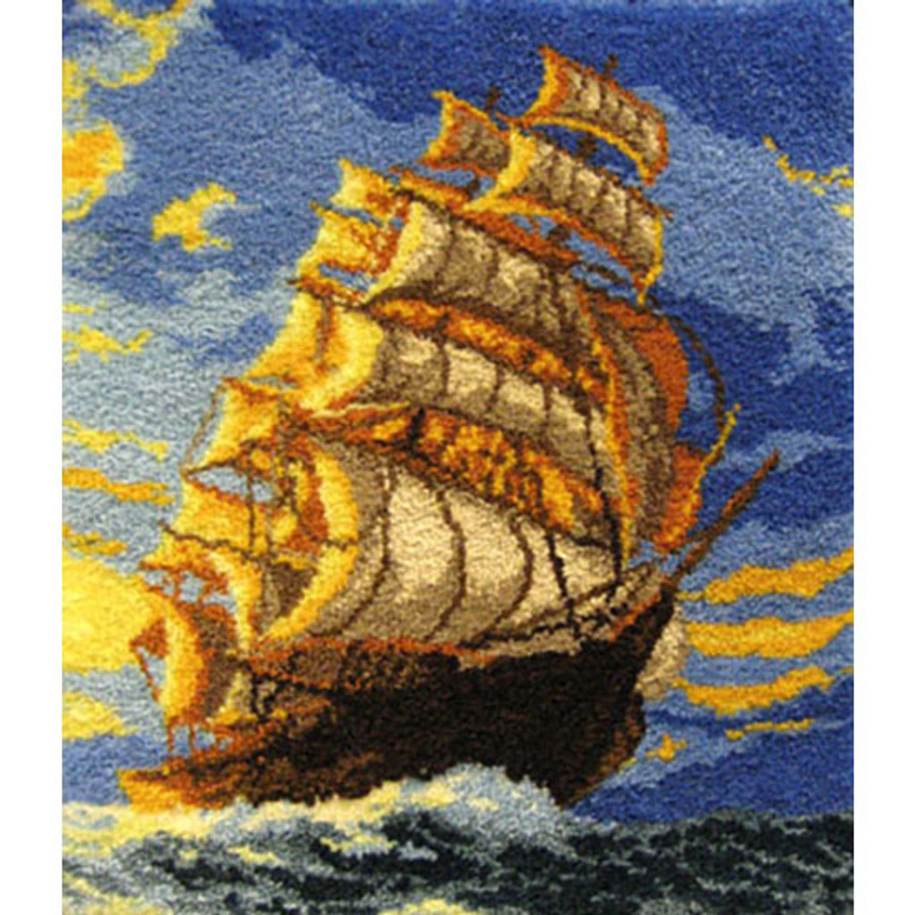 Clipper Ship Latch Hook Rug Kit