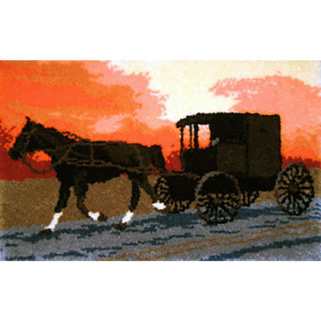Amish Buggy Latch Hook Rug Kit