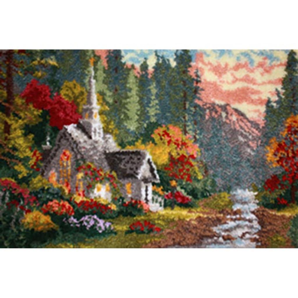 Forest Chapel Latch Hook Rug Kit