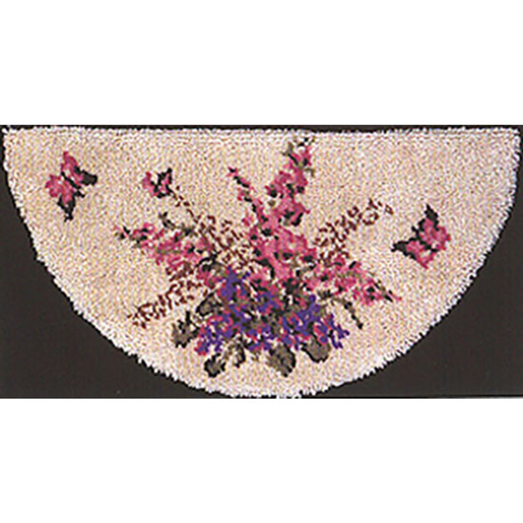 Foxglove Latch Hook Rug Kit