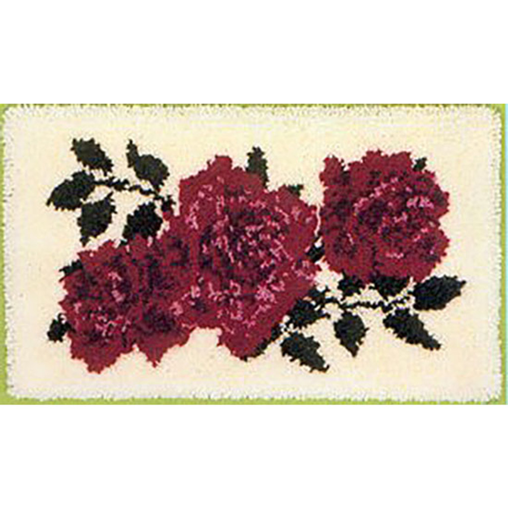English Roses Latch Hook Rug Kit