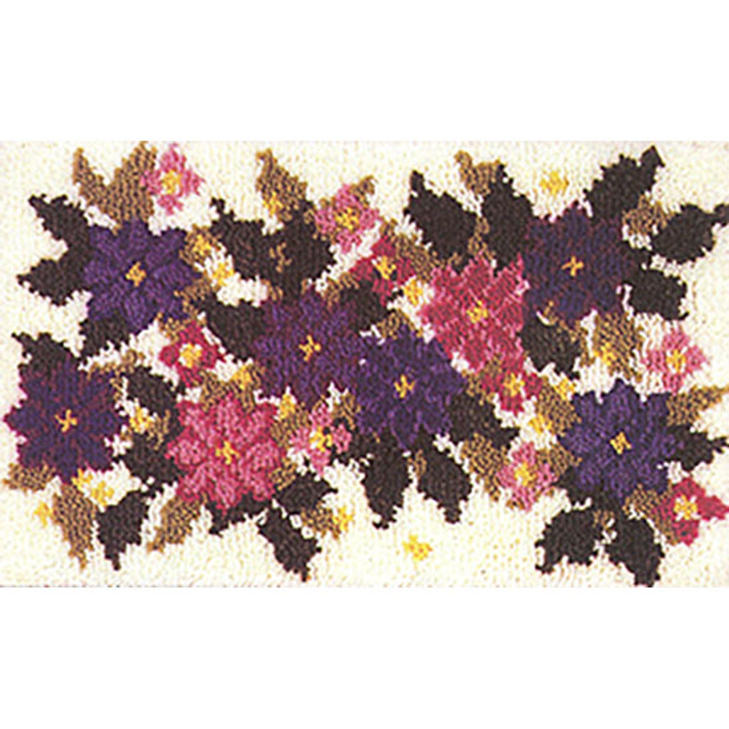 Clematis Garden Latch Hook Rug Kit