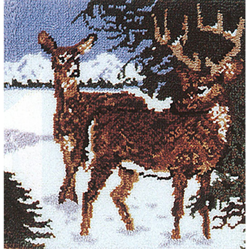 Deer Crossing  Latch Hook Rug Kit