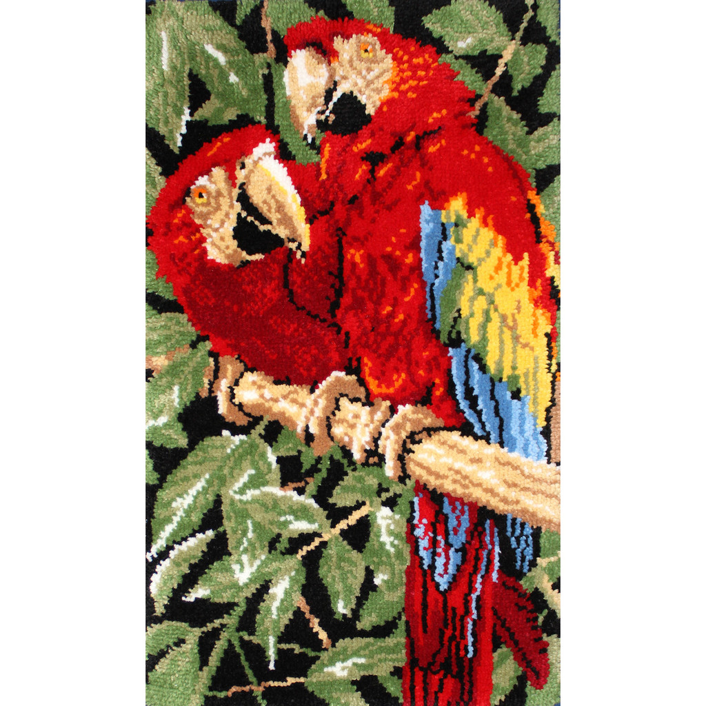 Tropical Macaws  Latch Hook Rug Kit