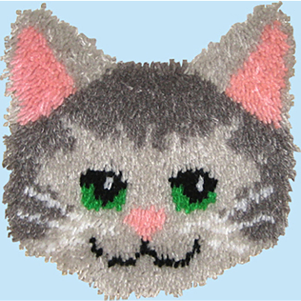 Kitty Latch Hook Pillow Kit