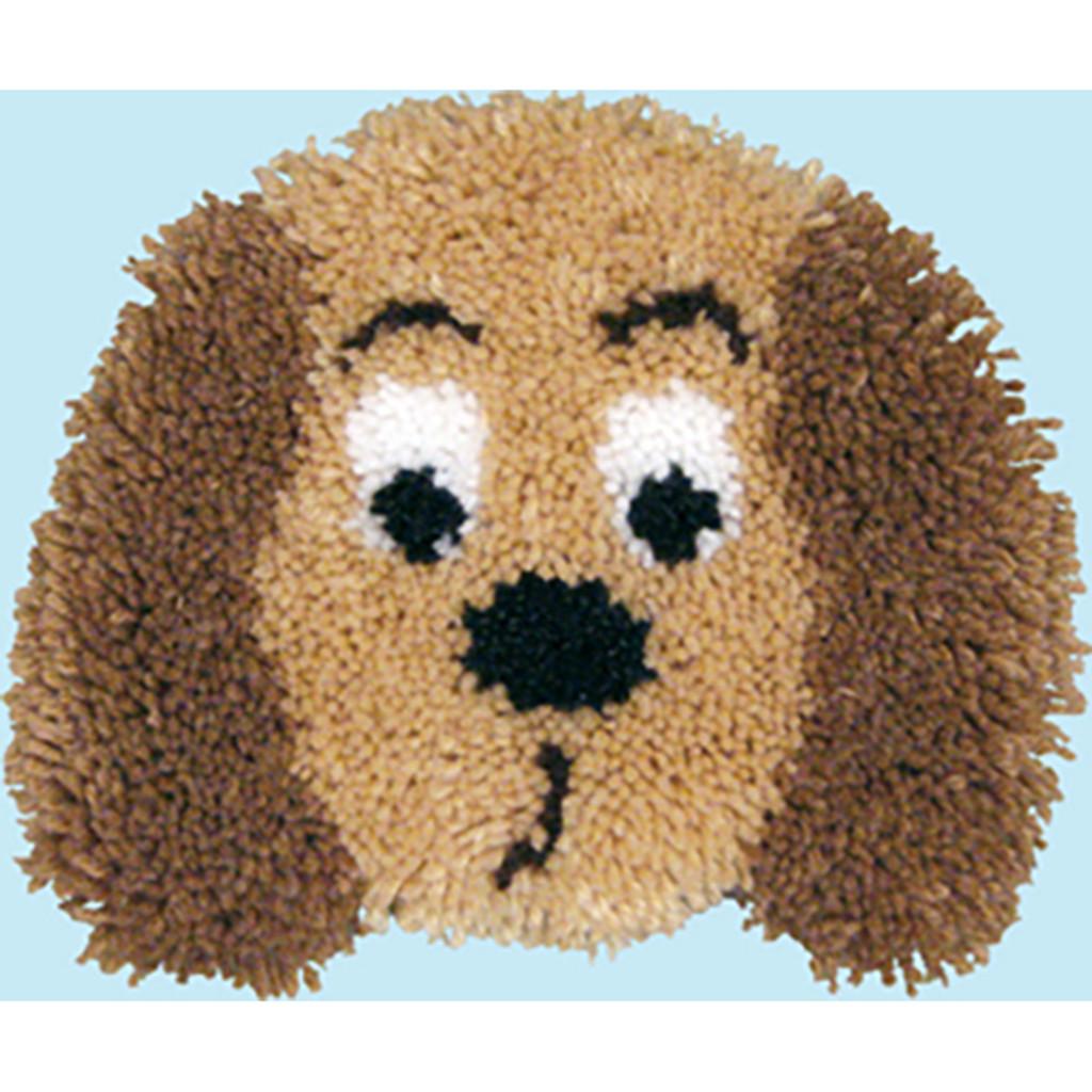 Puppy Latch Hook Pillow Kit