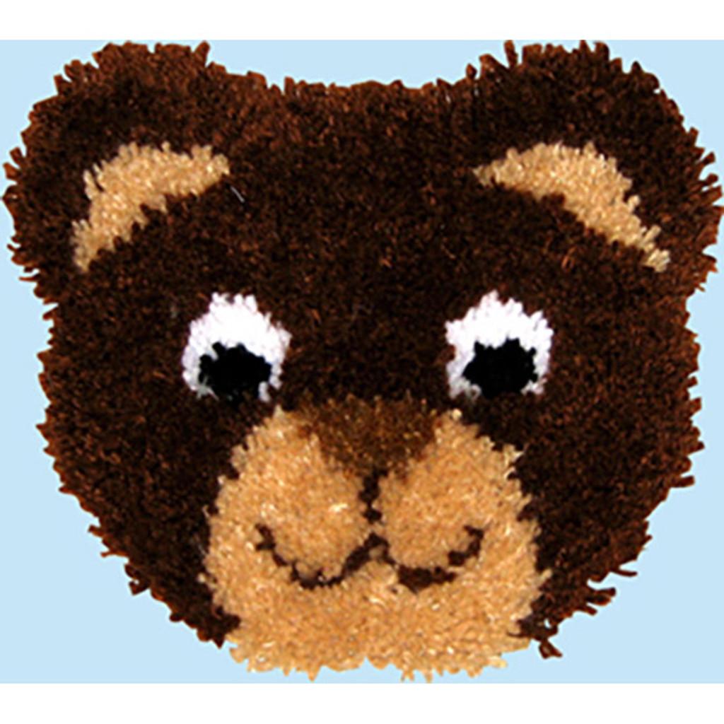 Teddy Latch Hook Pillow Kit