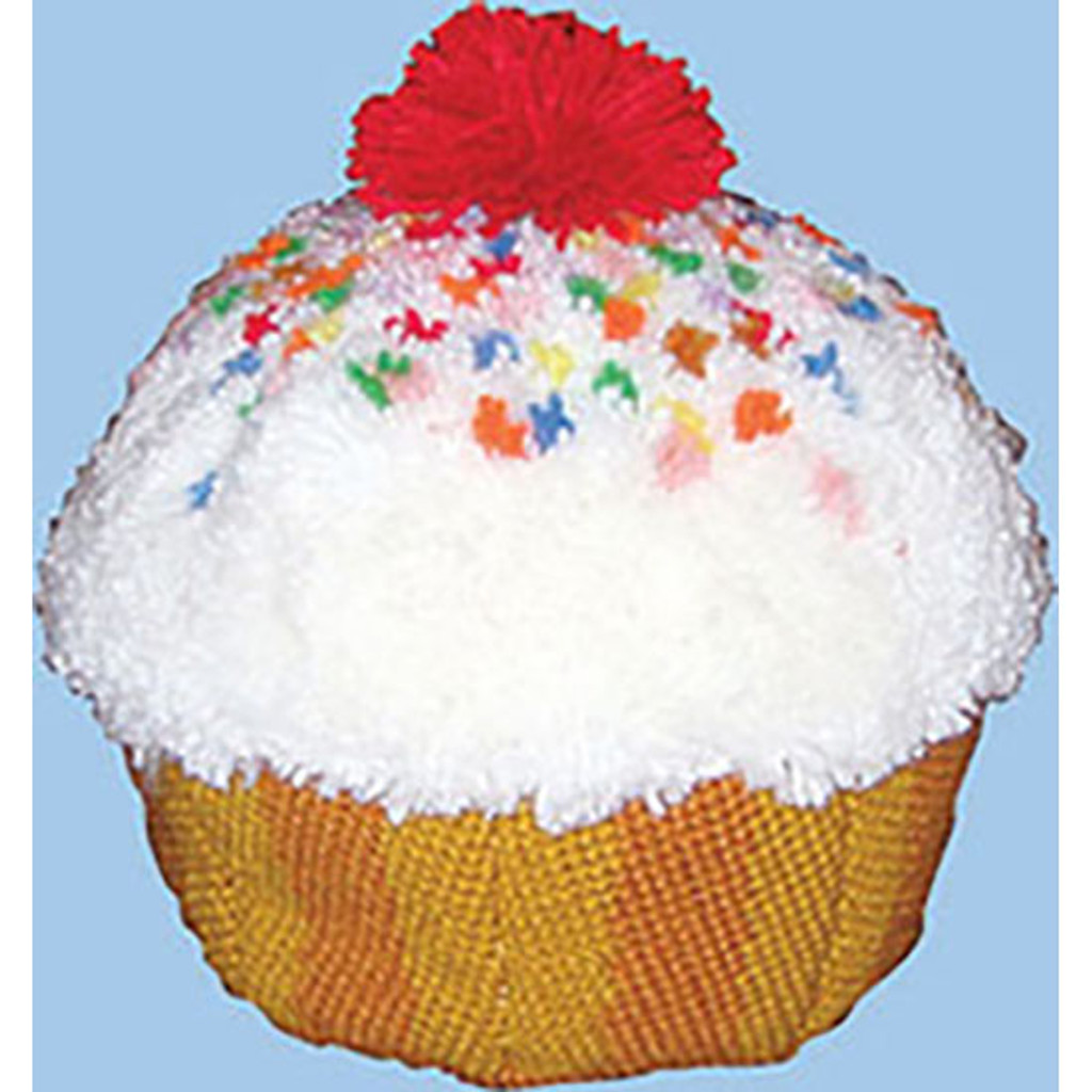 Cupcake Latch Hook Pillow Kit
