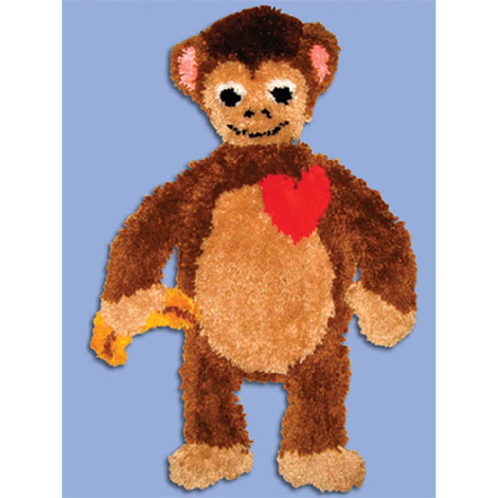 Monkey Rug Latch Hook Kit