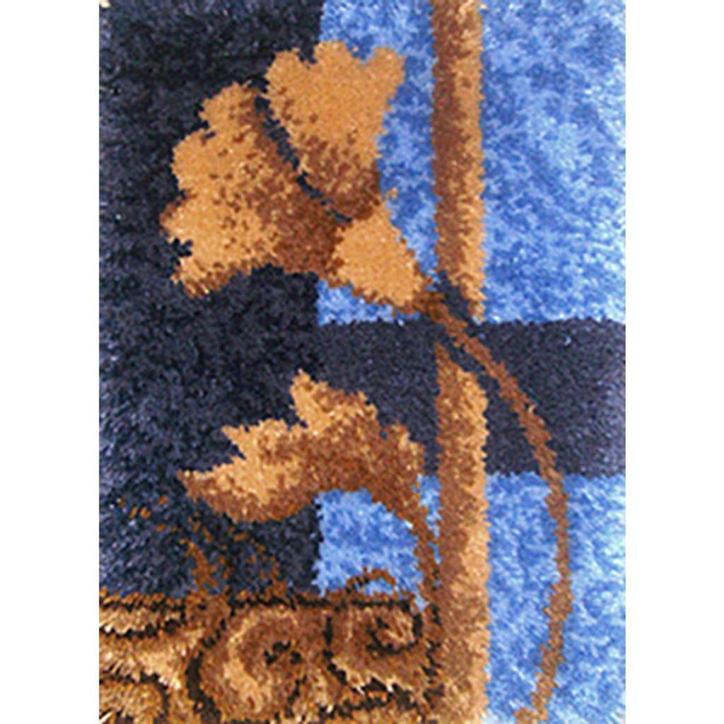 Floral Geometric Latch Hook Rug Kit