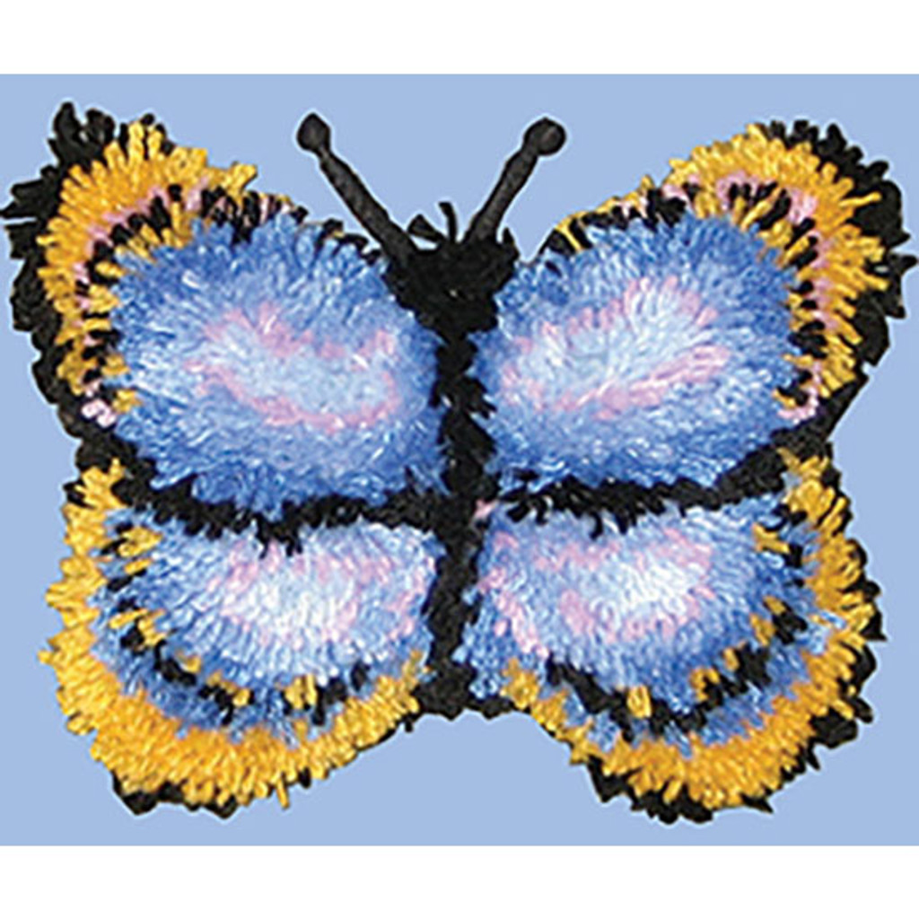 Butterfly Latch Hook Pillow Kit
