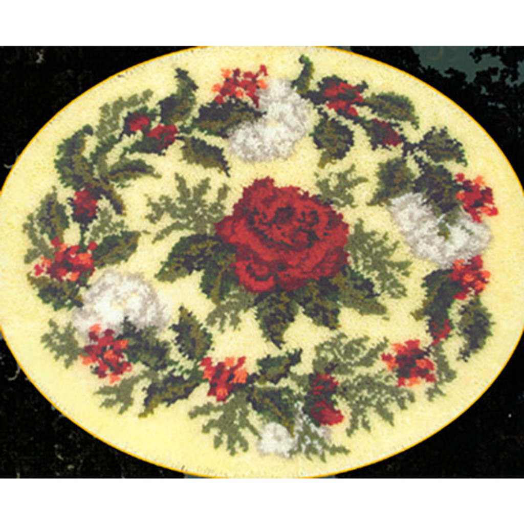 Rose of Joy Latch Hook Rug Kit