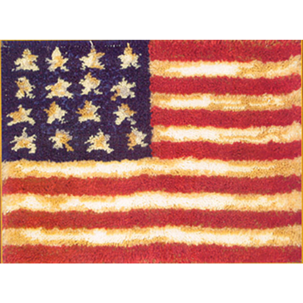 Old Glory Latch Hook Rug Kit