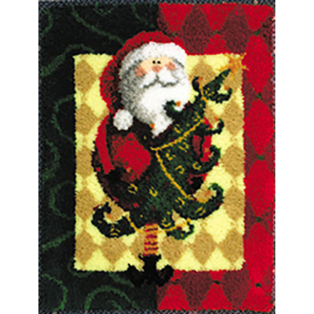 Santa & Tree Latch Hook Rug Kit