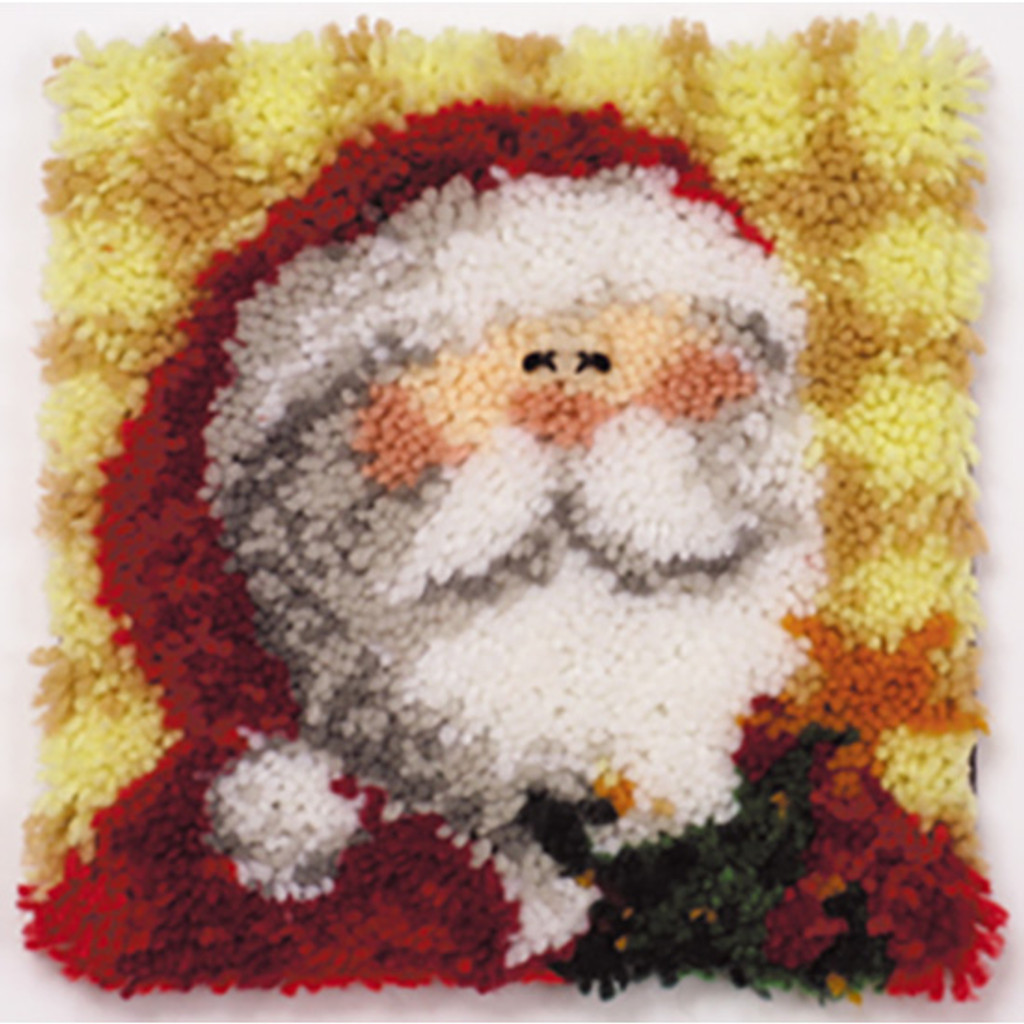 Ho Ho Santa Latch Hook Pillow Kit