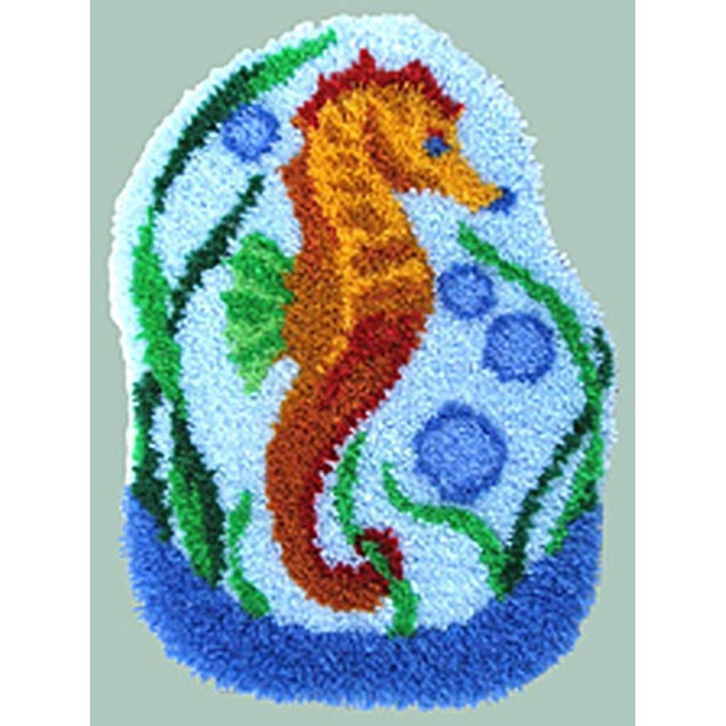 Seahorse Latch Hook Rug Kit