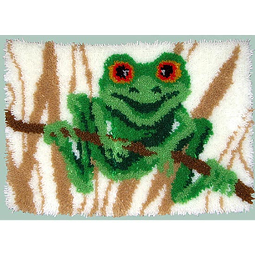 Frog Latch Hook Rug Kit