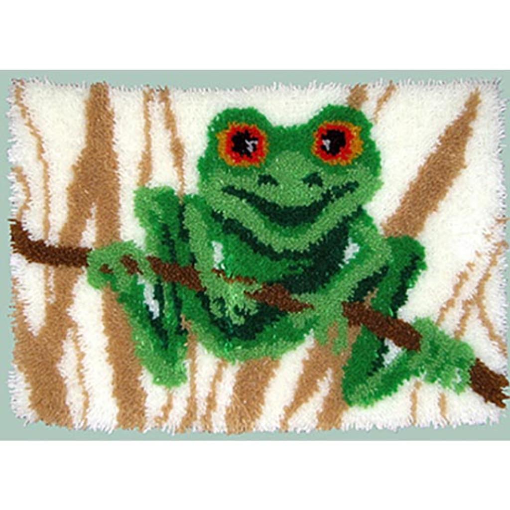 Frog Latch Hook Rug Kit