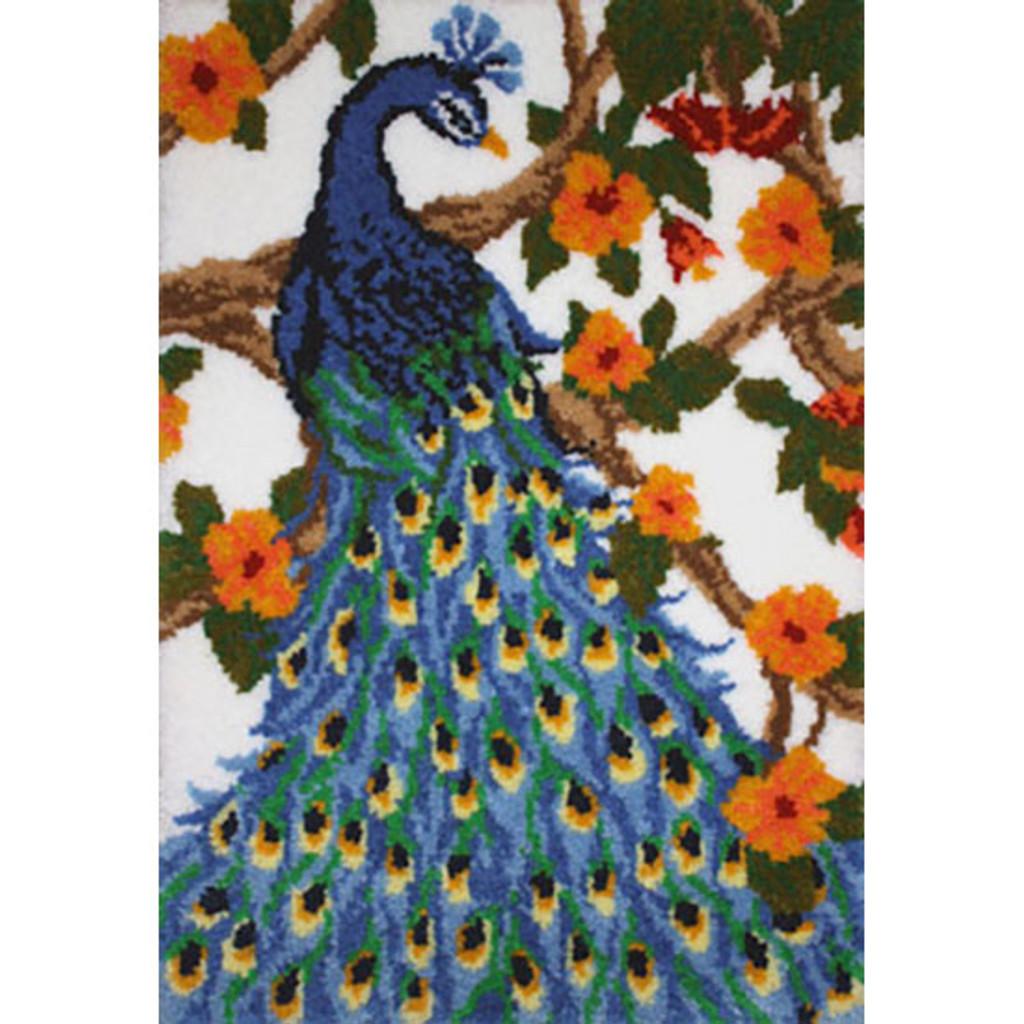 Peacock Latch Hook Rug Kit