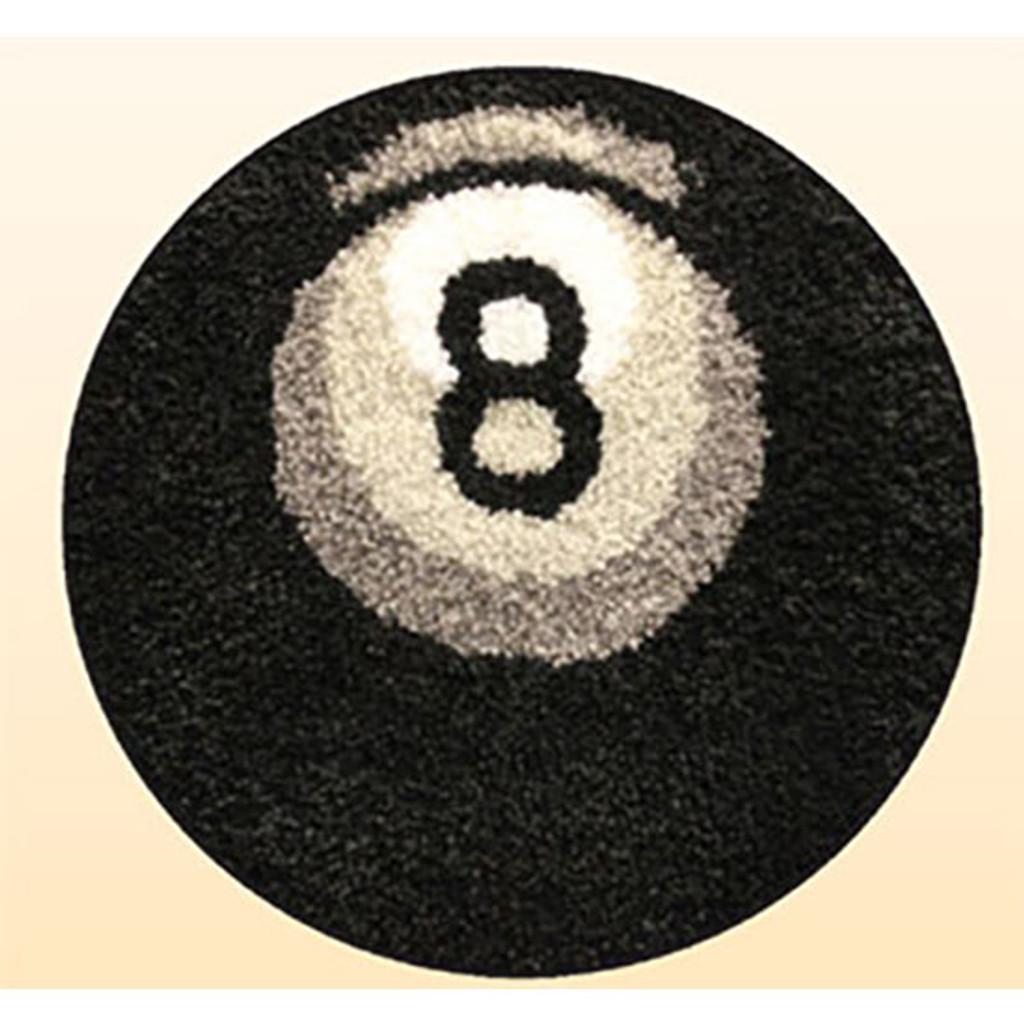 Eight Ball Latch Hook Rug Kit