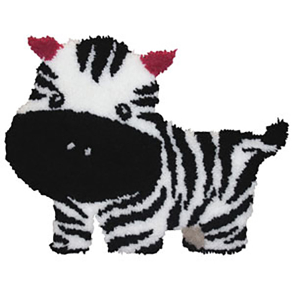 Baby Zebra Latch Hook Rug Kit