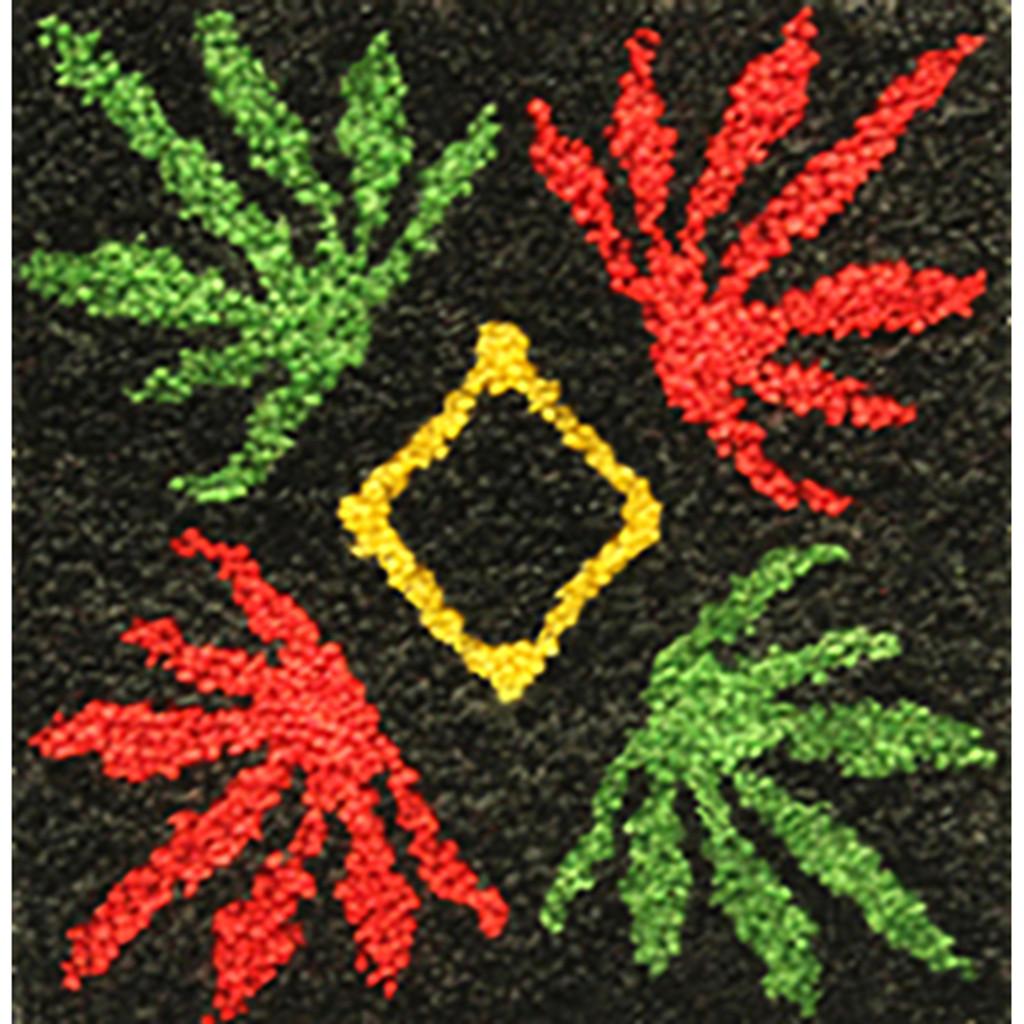 Livin' High Four Leaf Latch Hook Rug Kit