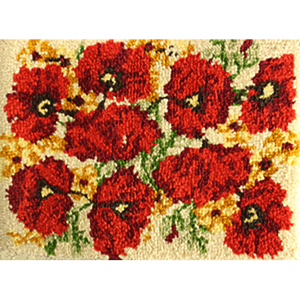 Poppies Latch Hook Rug Kit
